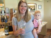 Mommy and Paige at Wild Horse Winery