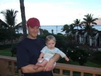 Daddy and Paige at our condo